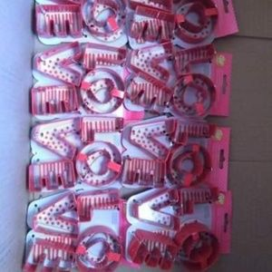 Brand new 8pc Lot LOVE letters cookie cutters